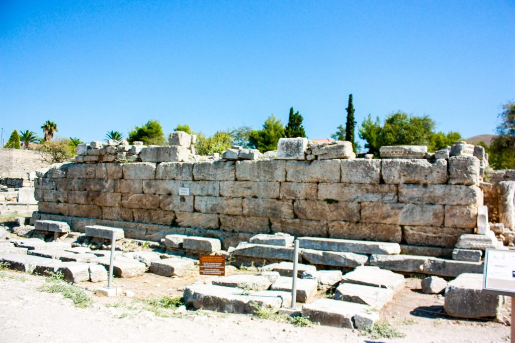 The bema, or judgement seat, where Paul was questioned in Corinth, Greece